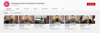 Kirchengemeinden Hetzelsdorf und Wannbach auf Youtube